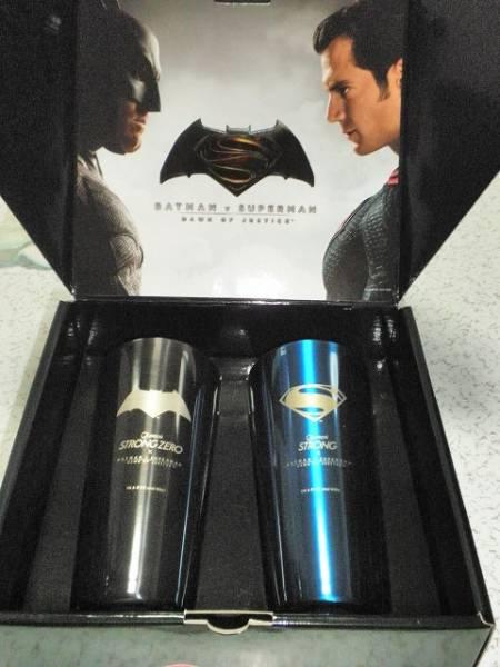 ■ ペプシ バットマンvsスーパーマン タンブラー 非売品 未使用_画像1