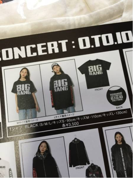 BIG BANG☆ビッグバン THE FINAL LIVE グッズ Tシャツ 黒 M