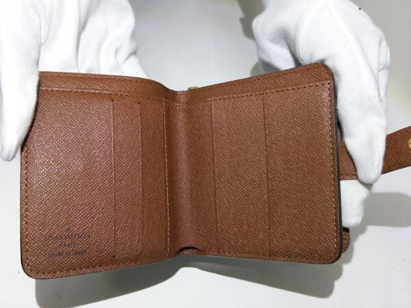 ヴィトン 財布 コンパクトジップ モノグラム 箱付き 美品 未使用