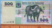 世界の紙幣【タンザニア共和国】バッファロー500シリング 2003年 流通品 一円〜