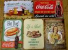 广告品, 新奇品 - A-3 送料¥178 ブリキ看板コカコーラ デザート  等5枚