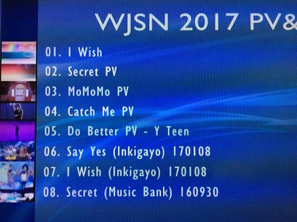 宇宙少女 WJSN PV&TV 2017 DVD レーベル有・即決・送料込