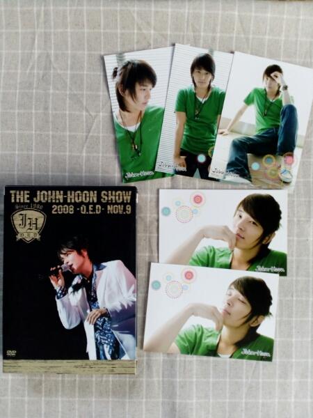 THE John-Hoon SHOW 2008 Q.E.D.(DVD)+ポストカード5枚 コンサートグッズの画像