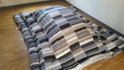 即決 ソフトタッチ 綿100% 超大判長方形 こたつ掛け布団 日本製 BK