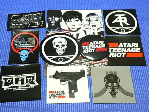 ATARI TEENAGE RIOT(アタリ)ステッカー8枚&缶バッジ1個