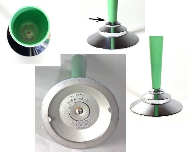 1930's【The Dura Co.】一輪挿しアンティークビンテージアメリカ花瓶花器ランプ照明ドアノブ建具工業系バウハウスドイツモダンデザインgras_画像3