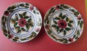 スペインハンドメイド花柄絵皿 PINTADOAMONO  2枚セット