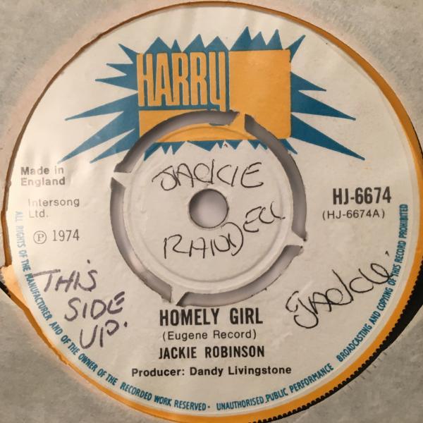 ■Jackie Robinson/Homely Girl■哀愁アーリーレゲエ!_画像1