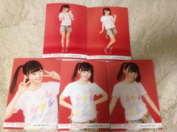 NGT48 1周年記念コンサートin TDC 生写真 5種コンプ 中井りか ライブグッズの画像