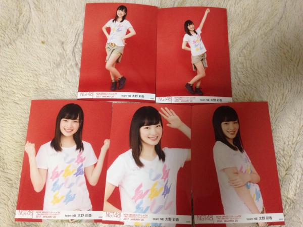 NGT48 1周年記念コンサートin TDC 生写真 5種コンプ 太野彩香 ライブグッズの画像