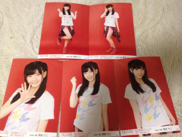 NGT48 1周年記念コンサートin TDC 生写真 5種コンプ 菅原りこ ライブグッズの画像