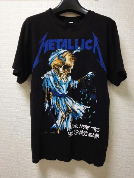 古着 メタリカ metallica バンt バンドt ジャスティンビーバー ライブグッズの画像