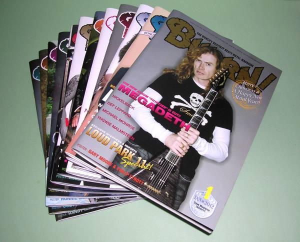 【中古雑誌】Burrn!2012年 1冊売り_残り7冊です