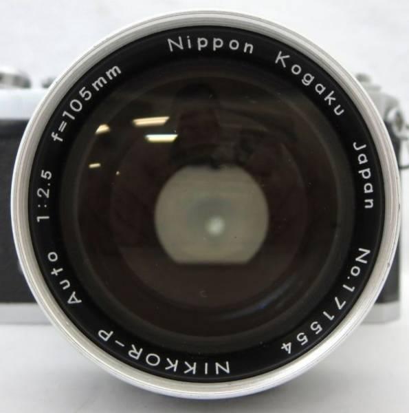 Nikon F NIKKOR-P Auto 1:2.5 f=105mm ニコン エフ 1IHN-032K_画像2
