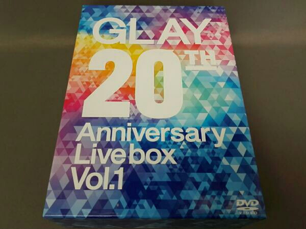 DVD GLAY 20th Anniversary LIVE BOX VOL.1 3枚組 ライブグッズの画像