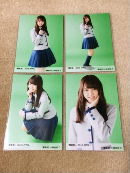 欅坂46 小林由依 欅宣言 2016 April 4月 生写真 4種 コンプ