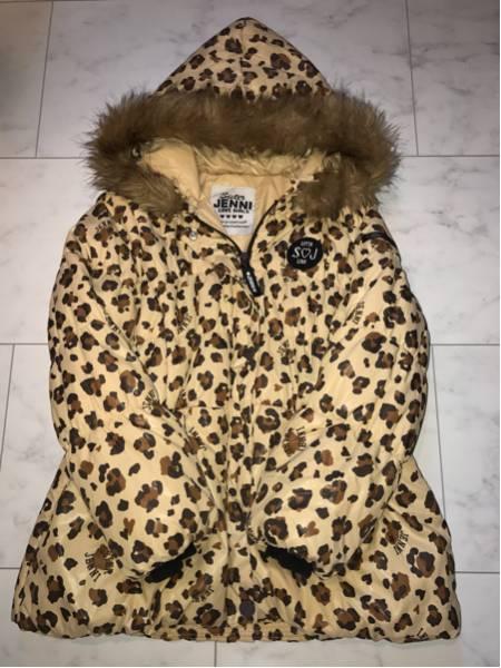 JENNI シスタージェニィ 美品 コート ふわふわ 軽量 160 かわいい ファー付 ヒョウ柄 ロング