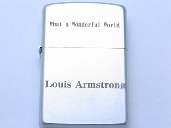 what a wonderful world ジッポー ケースのみ Louis Armstrong