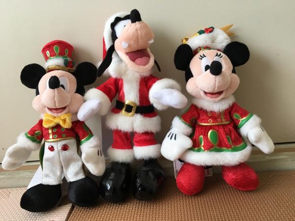 クリスマスぬいば☆ミッキー☆ミニー☆グーフィー☆送料無料☆B