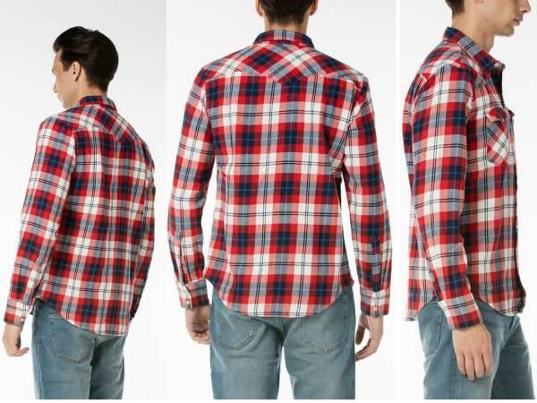 新品リーバイス バーストゥ ウエスタンシャツ Levi's メンズM(日本サイズL) 65816-0180マルチカラー赤×青×白×濃紺チェック柄 長袖シャツ_画像2