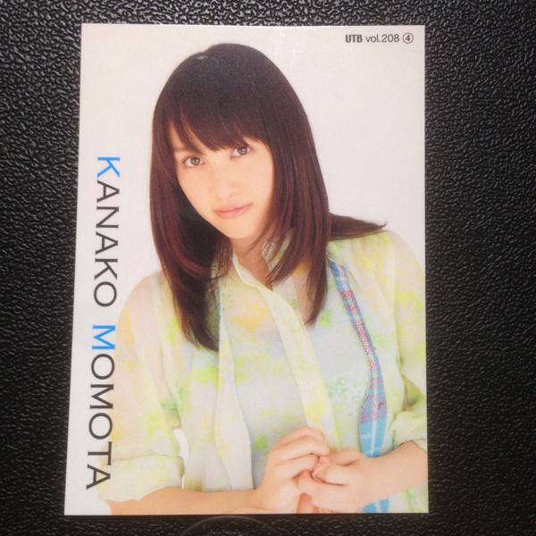 【送料無料】 ももクロ 百田夏菜子 トレカ カード UTB vol.208 付録
