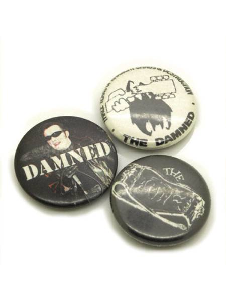 ダムド THE DAMNED パンク缶バッジCセット hardcore punk