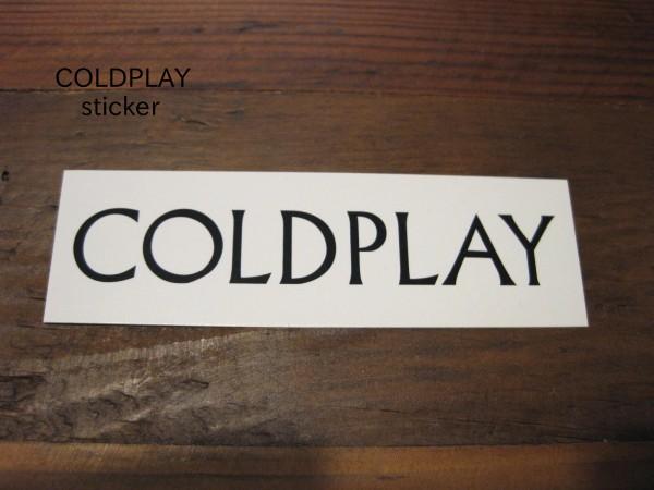 即決 COLDPLAY コールドプレイ ロゴステッカー 英国ロックバンド