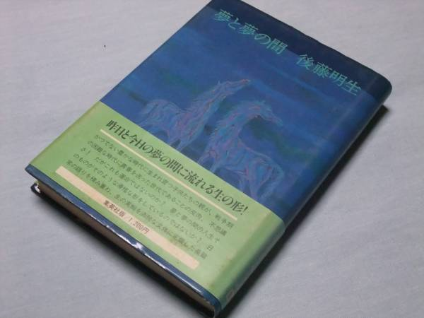 後藤明生 「夢と夢の間」 小説 装画= 加山又造_画像1