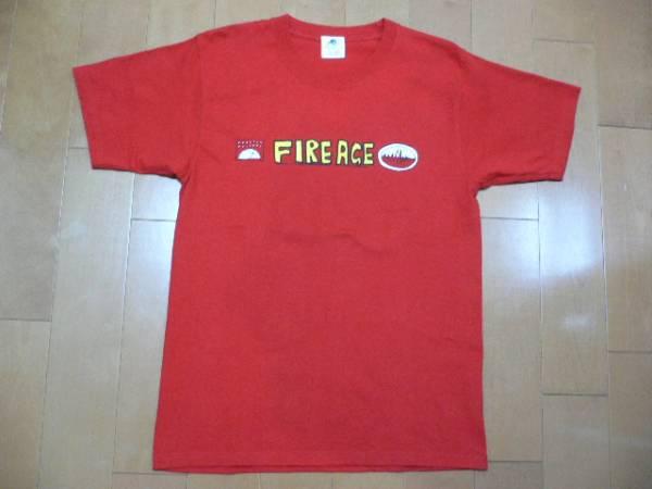 極美品です!【ザ・クロマニヨンズ】FIRE AGE Tシャツ 赤 Sサイズ ライブグッズの画像