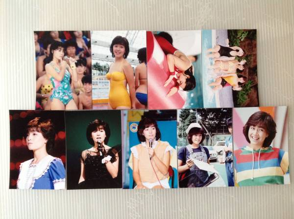 レア☆柏原芳恵写真Lサイズ18枚セット10