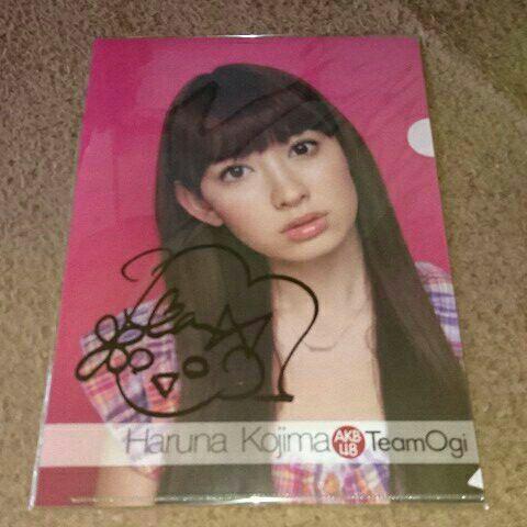 AKB48 teamOgi 小嶋陽菜 直筆サイン入り クリアファイル