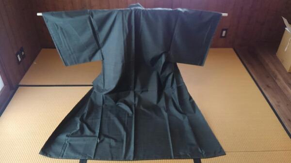 本場【奄美純泥染】★未使用キング120亀甲アンサンブル