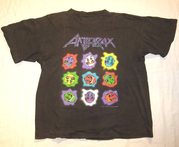 【Rock Tee】ANTHRAX/Knows No Color/アンスラックス'93/当時物