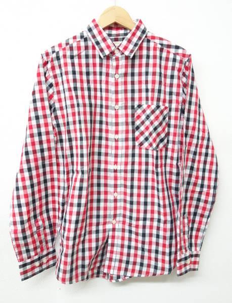 BROWNY ブラウニー *長袖シャツ *シンプルな赤系チェック L/G