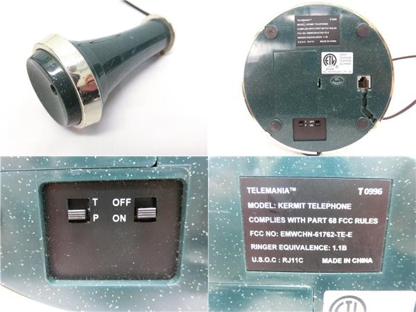レトロ 電話機 KERMIT かえる EMWCHN-61762-TE-E_画像3