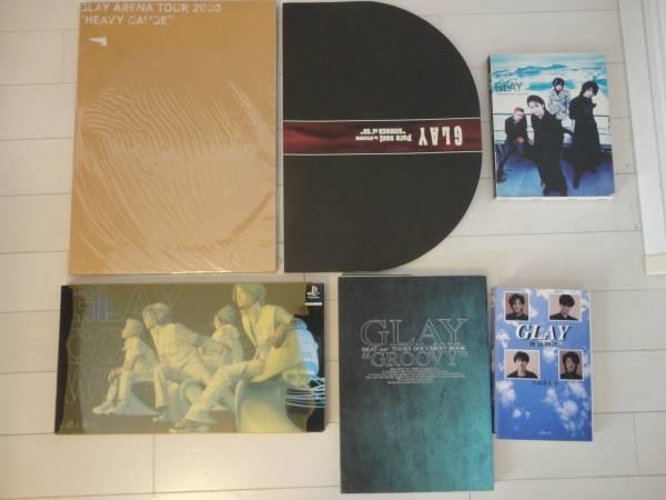 GLAY グレイ ライブ パンフ と本 6冊セット TAKURO TERU