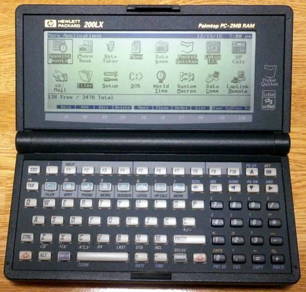 HP200LX(2MB) + 40MBフラッシュディスク(DPF-40)_画像2