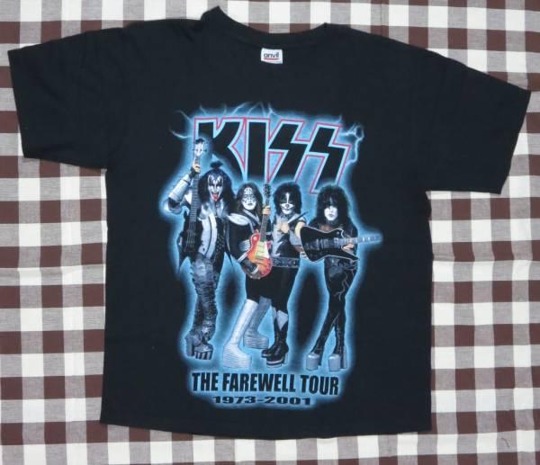【アメリカン・ロックTシャツ】 キッス KISS 2001年 ツアーTシャツ ブラック・Mサイズ 【新品未着用】 ライブグッズの画像