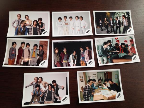嵐 公式写真 5人 大野智 松本潤 二宮和也 櫻井翔 相葉雅紀 8枚