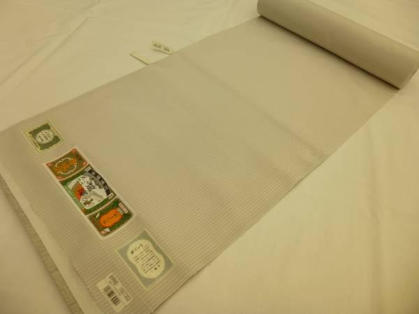 新品正絹反物★やまだ織・本場塩沢紬着尺★グレー地に縞柄です_画像1
