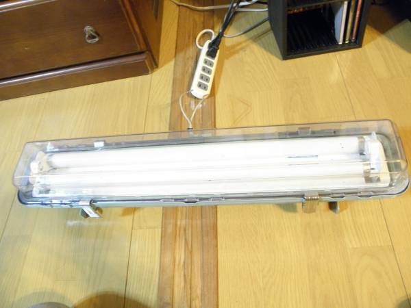 船舶 ライト 照明 蛍光灯2本 工業系 シャビー インダストリアル_画像3