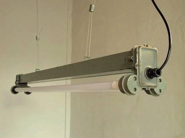 1960 ポーランド 蛍光灯 アトリエランプ 工業系 古道具 照明_画像2