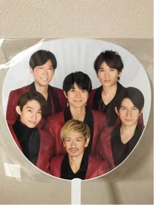 V6 うちわ カウントダウンコンサート 2016-2017 コンサートグッズの画像