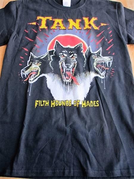 TANK Tシャツ filth hounds of hades 黒S / iron maiden judas priest metallica