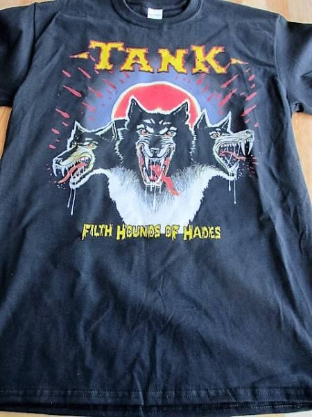 TANK Tシャツ filth hounds of hades 黒M / iron maiden motorhead metallica sodom