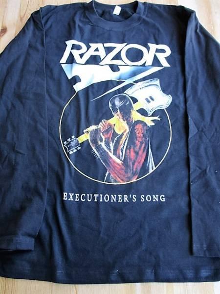 RAZOR 長袖Tシャツ executioner's song 黒M ロンT / slayer sodom kreator sacrifice voivod