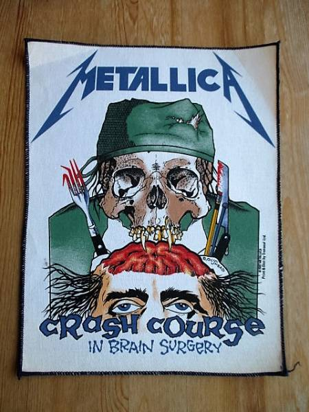 METALLICA プリントバックパッチ crash course in brain surgery デッドストック ヴィンテージ / pushead anthrax iron maiden slayer