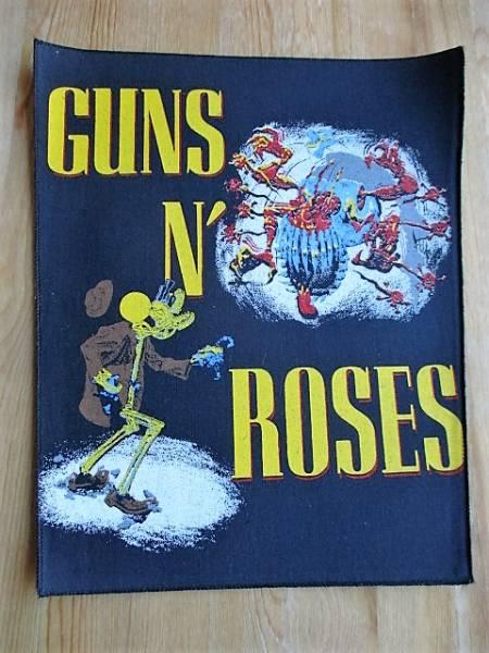 当時物 Guns N' Roses プリントバックパッチ デッドストック ヴィンテージ / metallica iron maiden slayer