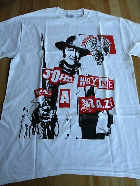 MDC Tシャツ john wayne was a nazi 白M / poison idea black flag offenders negative approach