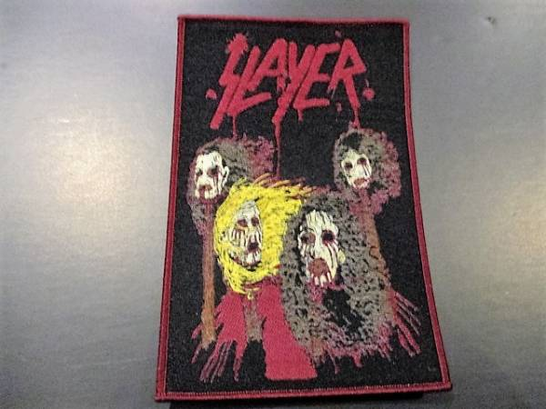 SLAYER 刺繍パッチ ワッペン death mask / metallica sodom